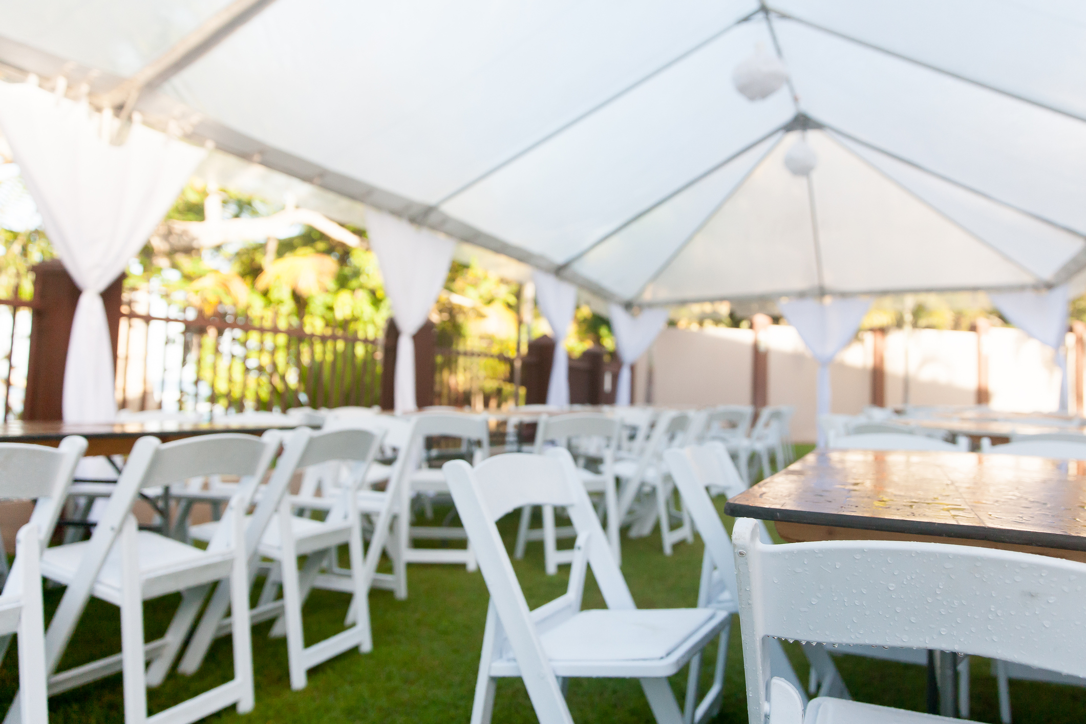 Climate Controlled Tents At Cabaret Tent and Party Rental